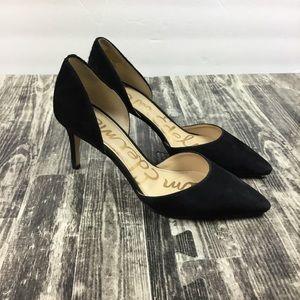 Sam Edelman Black Heels Shoes Size 7.5 Telsa Suede